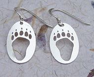 Sterling Silver Bear Track Earrings