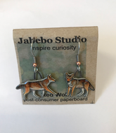 Jabebo Red Wolf Earrings
