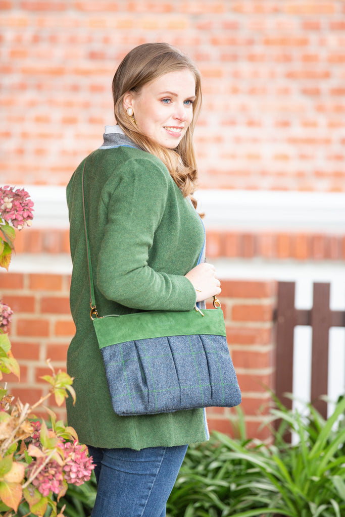 tweedclutch blue green