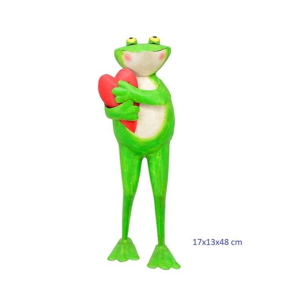 Home and garden decoration frog 17x13x48 cm