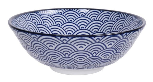 Nippon Blue Soba Bowl 21x7.8cm 1.1litre - InSight. Home and garden decoration