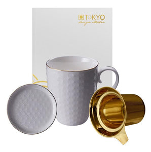 Nippon White Mug 380 ml, Golden Filter, Teatip