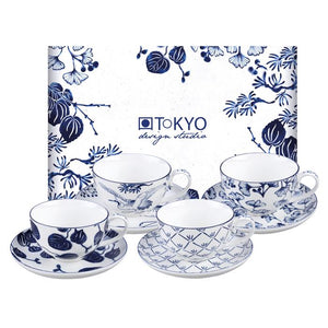 Flora Japonica Cup&Saucer Set of 4, 250ml