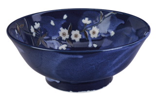 Blue Sakura Noodle Bowl 21x8.5cm - InSight. Home and garden decoration