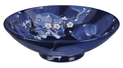 Blue Sakura Moribachi Bowl 24.5x8cm - InSight. Home and garden decoration