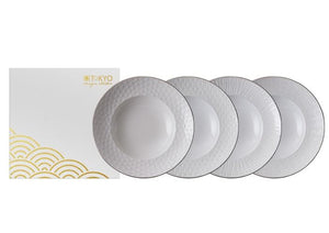 Nippon White Deep Plate 25,8cm, 4 pcs set