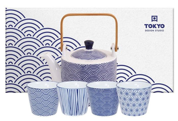 Nippon Blue Teaset 0,8L + 4 cups - InSight. Home and garden decoration