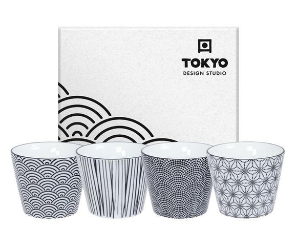 Nippon Black Teacup 4 pcs set