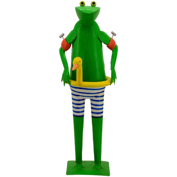 Home and garden decoration frog 45x38x125
