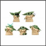 Kit 5 Figures Baby Yoda - Star Wars