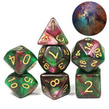 Kit 7 Dados RPG Galaxy