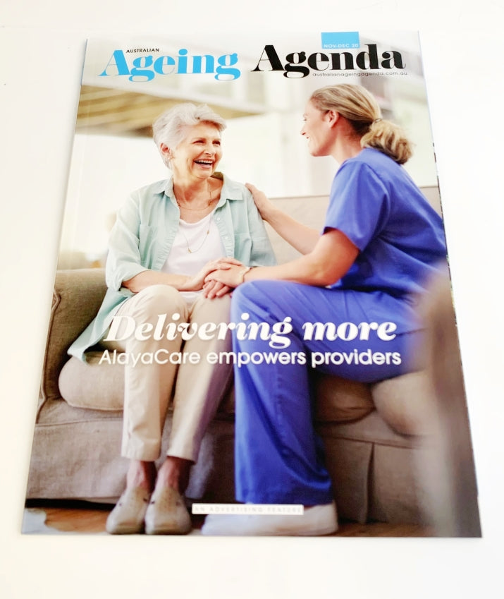 Cover of Australian Ageing Agena Nov-Dec 20 Issue