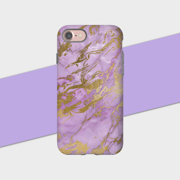 Lavender Gold Marble