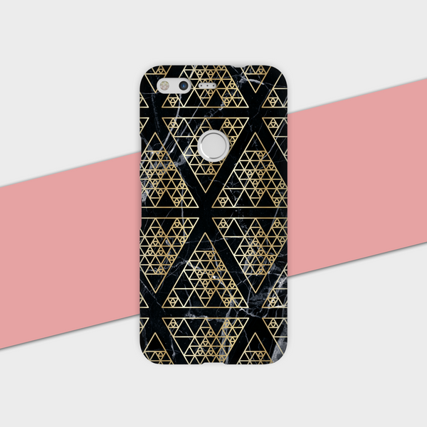 Gold Triangle Black Marble