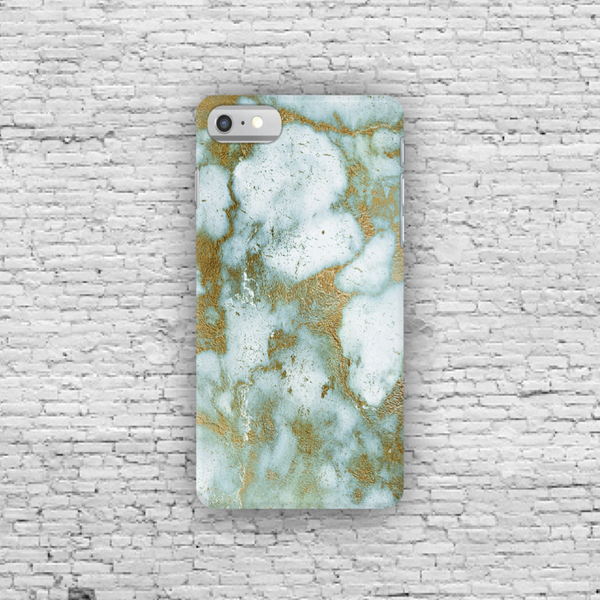 Sea Green Gold Marble