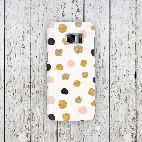 Multi Gold Color Polka Dot