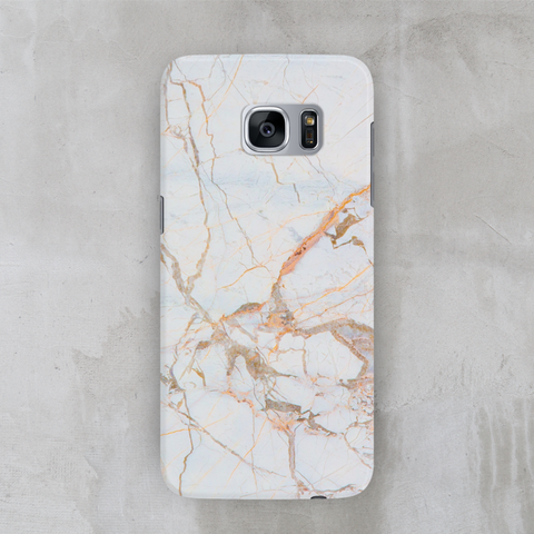 Orange gold marble case