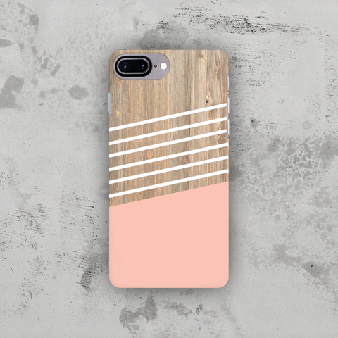Pink wood stripes