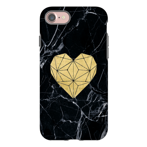 Gold Heart Marble