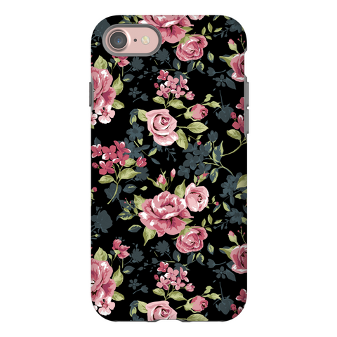 Black Rose Gold Floral