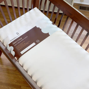 organic cotton classic seamless baby crib mattress – lightweight 2-stage