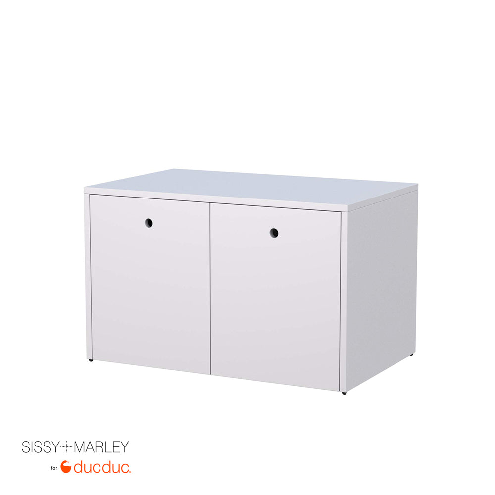 max cabinet white frame white accent angle