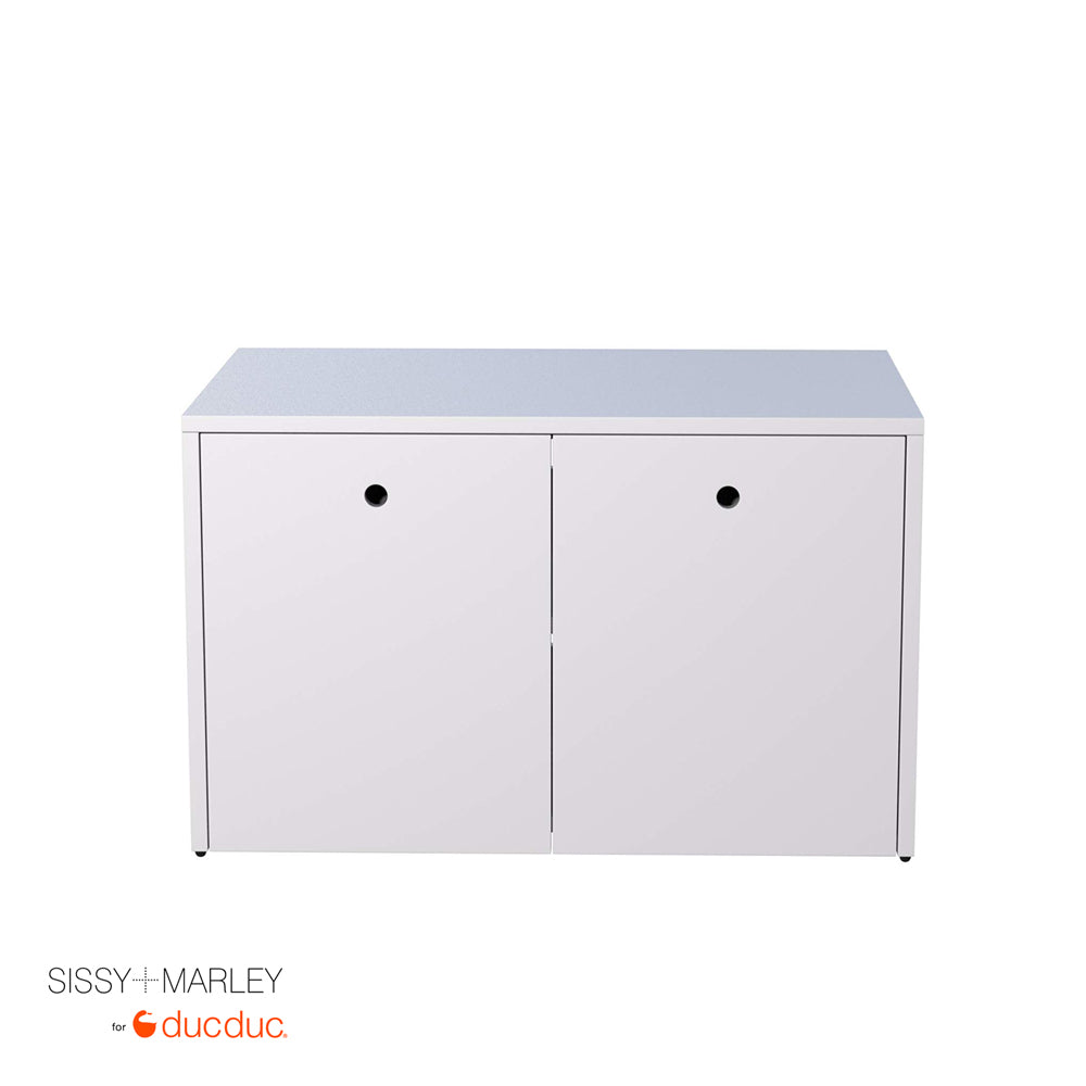 max cabinet white frame white accent front