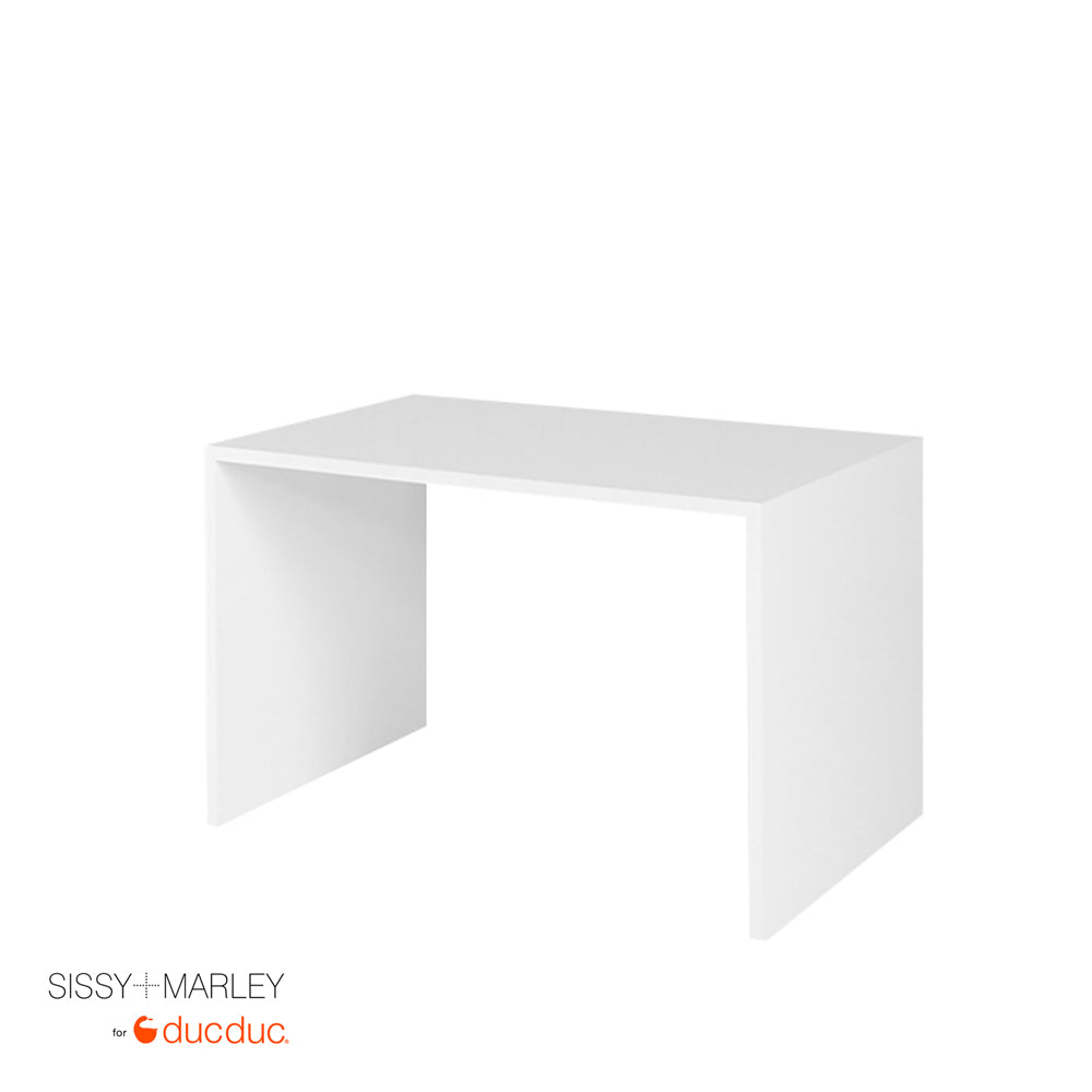 myles desk small white angled