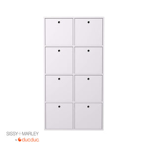 quinn vertical cubbies angle white