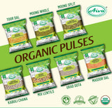 Organic Masoor Whole - Usda Certified, Organic Pulses & Beans, Aiva Products, Aiva Products
