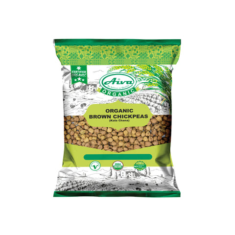 Organic Chick Peas (Kala Chana) - Usda Certified, Organic Pulses & Beans, Aiva Products, Aiva Products