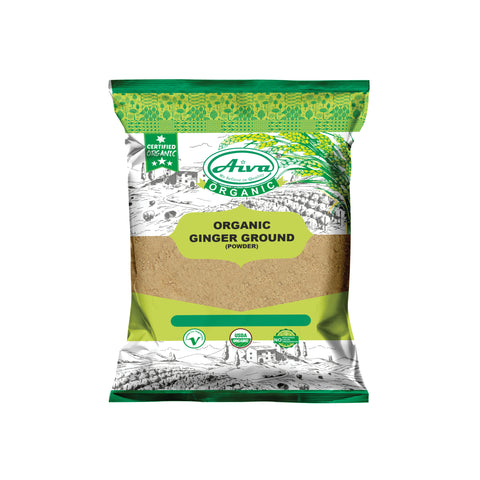 Organic Ground Ginger Root Powder (Adrak Powder), Organic Spices & Herbs, Aiva Products, Aiva Products