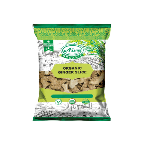 Organic Dried Ginger Slices, Organic Spices & Herbs, Aiva Products, Aiva Products