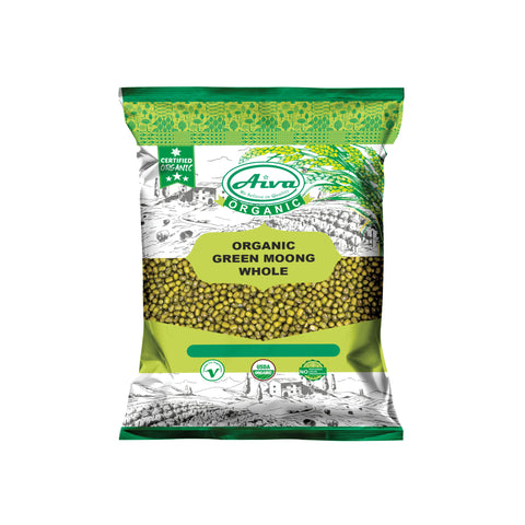 Organic Moong Whole (Green Mung Bean) - Usda Certified, Organic Pulses & Beans, Aiva Products, Aiva Products