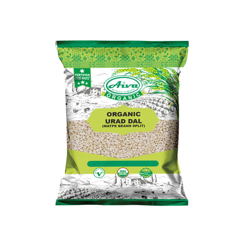 Organic Urad Dal (Matpe Bean Split) - Usda Certified, Organic Pulses & Beans, Aiva Products, Aiva Products