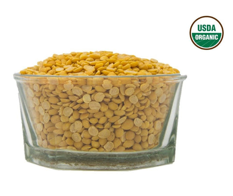 Organic Chana Dal (Chick Peas Split)- Usda Certified, Organic Pulses & Beans, Aiva Products, Aiva Products