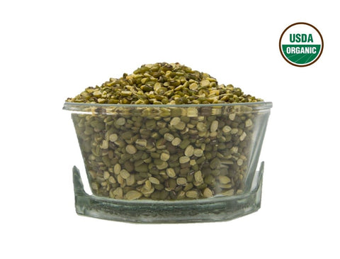 Organic Moong Split With Husk (Green Mung Bean Split) - Usda Certified, Organic Pulses & Beans, Aiva Products, Aiva Products