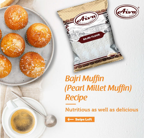 Bajri Flour (Pearl Millet Flour), Flours & Rice, Aiva Products, Aiva Products
