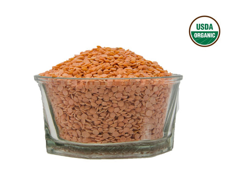 Organic Masoor Dal (Lentil Split) - Usda Certified, Organic Pulses & Beans, Aiva Products, Aiva Products
