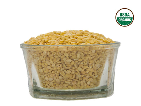 Organic Moong Dal (Green Mung Bean Split) - Usda Certified, Organic Pulses & Beans, Aiva Products, Aiva Products