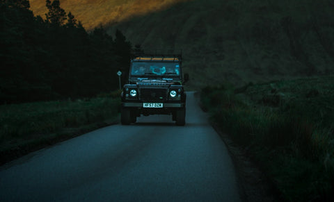 Landrover on road