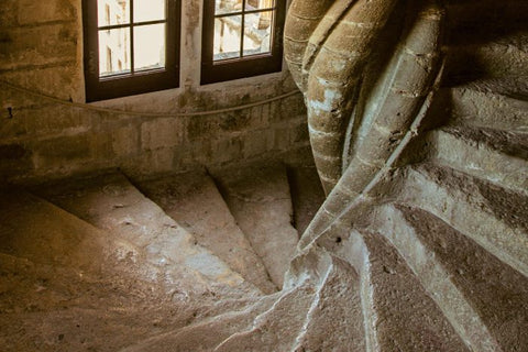 Old stone spiral staircase