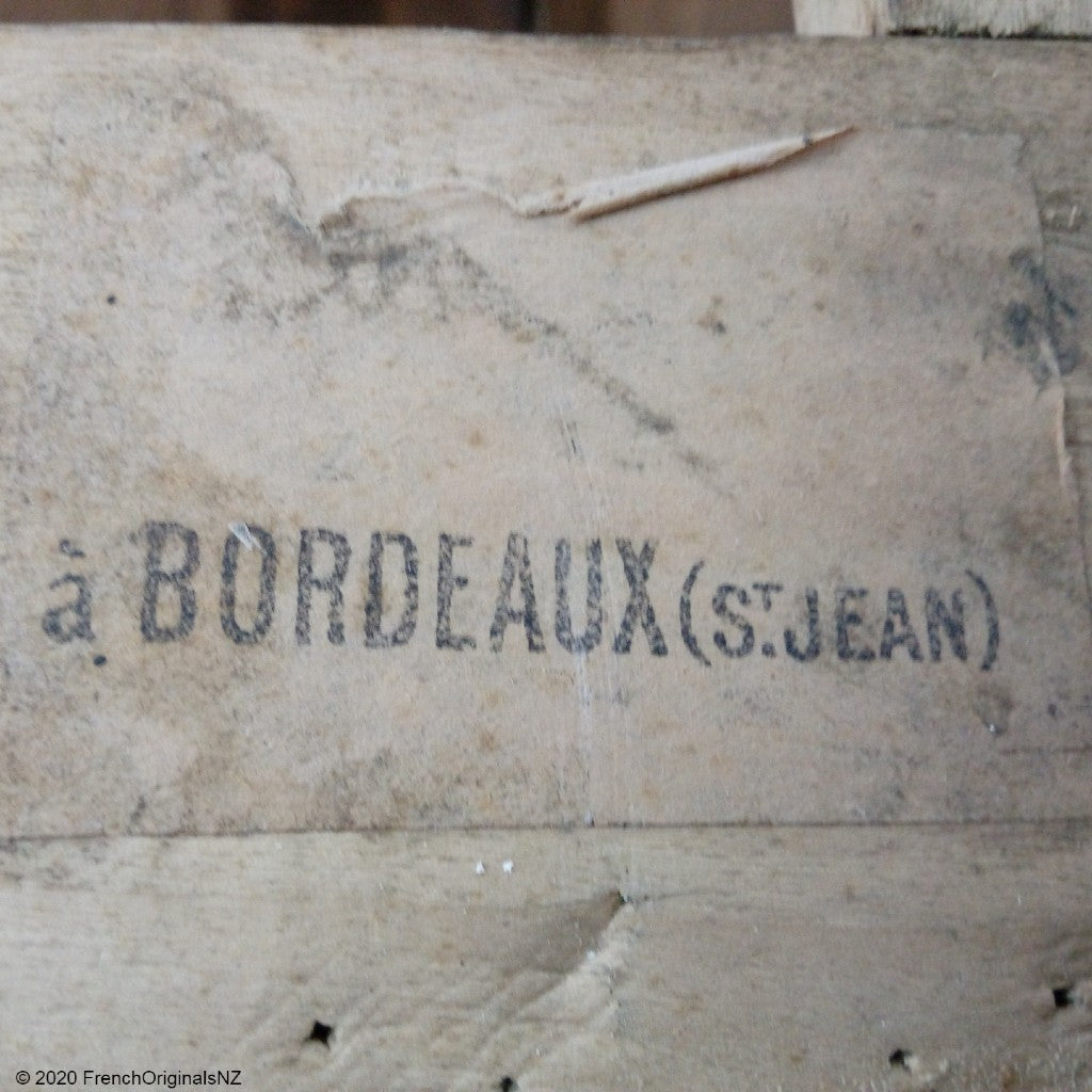 Antique French Furniture Freight Label NZ