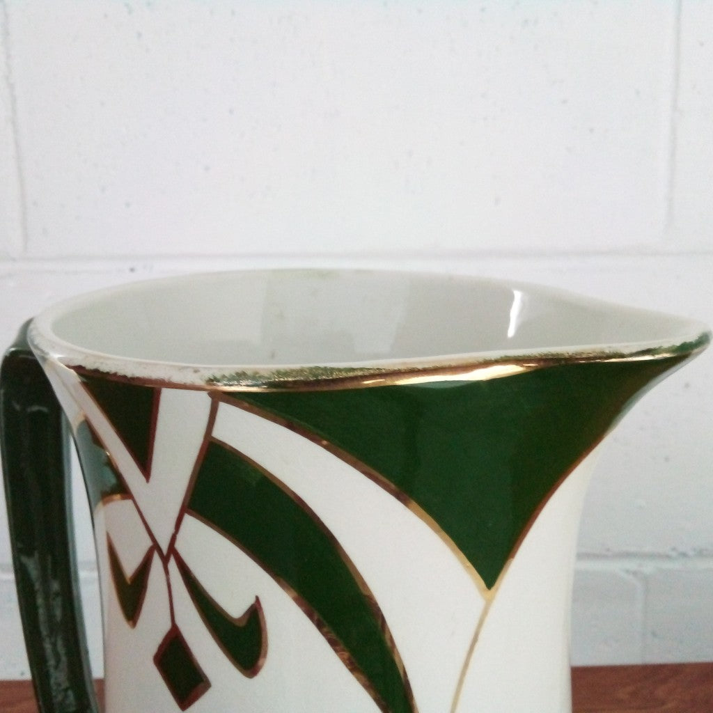 Art Deco Jug Gold Edge NZ