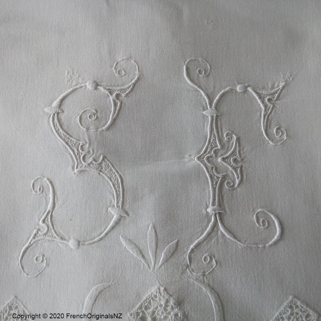 Embroidered French Sheet NZ
