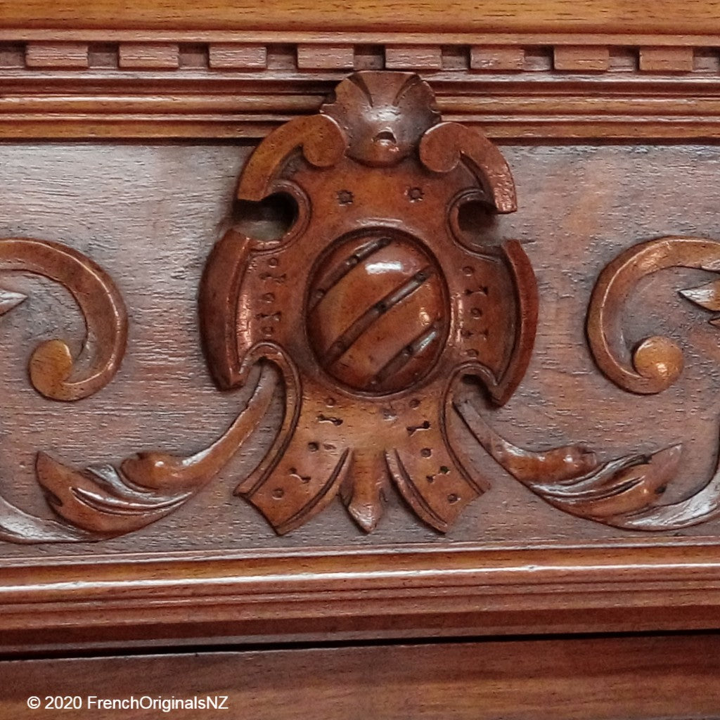 French Antique Dresser carving detail NZ