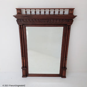 French Antique Over Mantle Mirror NZ