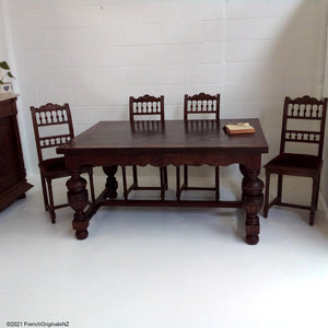 French Antique Table and Chairs NZ