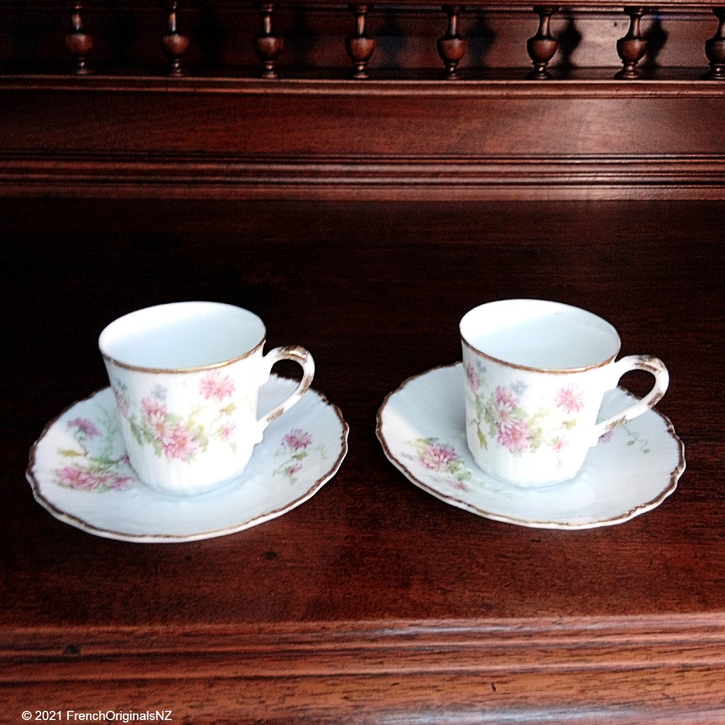 French Limoges Porcelain cup and saucer set NZ