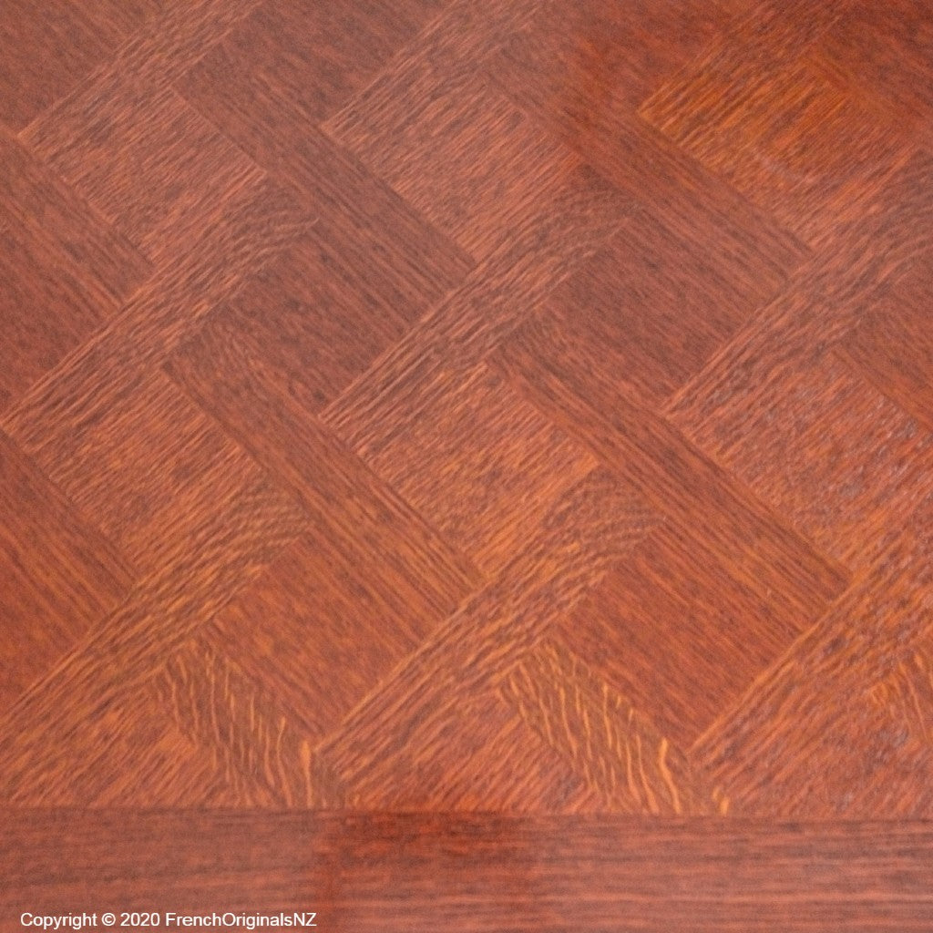 French Mid Century Tiger Oak Parquetry NZ